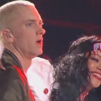 Eminem e Rihanna cantam juntos no MTV Movie Awards