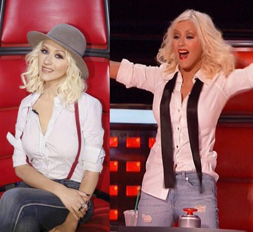 Ela está de volta! Confira os looks de Christina Aguilera no The Voice