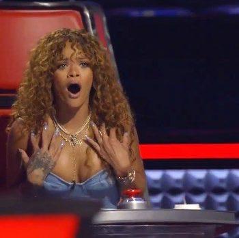 Confira uma prévia da participação de Rihanna no The Voice USA