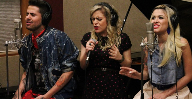 Lu Andrade (ex-Rouge), Nikki e Leandro Buenno fazem cover de hit de Katy Perry