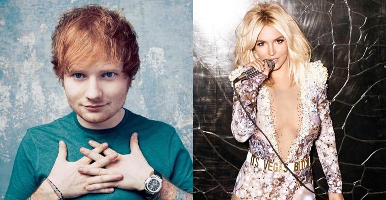 Ed Sheeran lança regravação de hit de Britney Spears