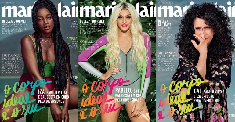 IZA, Pabllo Vittar e Gal Costa são capas da revista Marie Claire!